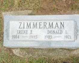 ZIMMERMAN, DONALD - Erie County, Ohio | DONALD ZIMMERMAN - Ohio Gravestone Photos