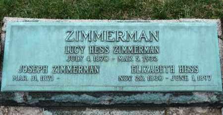 ZIMMERMAN, ELIZABETH - Erie County, Ohio | ELIZABETH ZIMMERMAN - Ohio Gravestone Photos