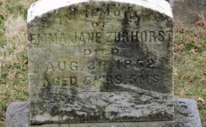 ZURHORST, EMMA JANE - Erie County, Ohio | EMMA JANE ZURHORST - Ohio Gravestone Photos