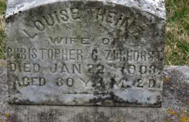 HEINZ ZURHORST, LOUISE - Erie County, Ohio | LOUISE HEINZ ZURHORST - Ohio Gravestone Photos