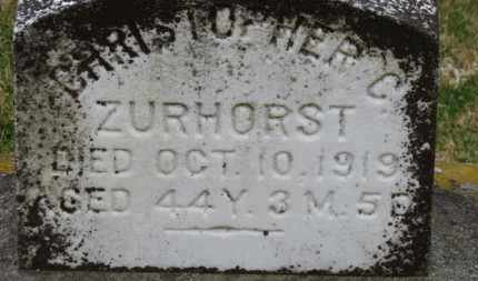 ZURHOST, CHRISTOPHER C. - Erie County, Ohio | CHRISTOPHER C. ZURHOST - Ohio Gravestone Photos