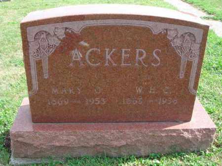 ACKERS, MARY G. - Fairfield County, Ohio | MARY G. ACKERS - Ohio Gravestone Photos