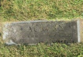 ACKERS, ORA MAE - Fairfield County, Ohio | ORA MAE ACKERS - Ohio Gravestone Photos