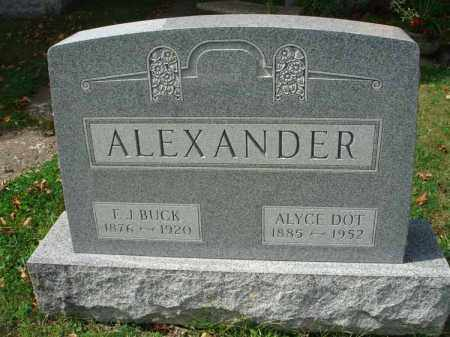 ALEXANDER, F. J. BUCK - Fairfield County, Ohio | F. J. BUCK ALEXANDER - Ohio Gravestone Photos
