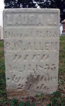 ALLEN, LAURA J. - Fairfield County, Ohio | LAURA J. ALLEN - Ohio Gravestone Photos