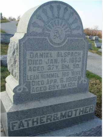 HUMMEL ALSPACH, LEAH - Fairfield County, Ohio | LEAH HUMMEL ALSPACH - Ohio Gravestone Photos