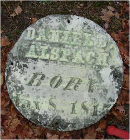ALSPACH, DANIEL D. - Fairfield County, Ohio | DANIEL D. ALSPACH - Ohio Gravestone Photos