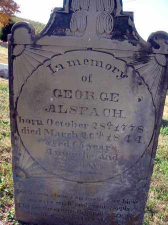 ALSPACH, GEORGE - Fairfield County, Ohio | GEORGE ALSPACH - Ohio Gravestone Photos