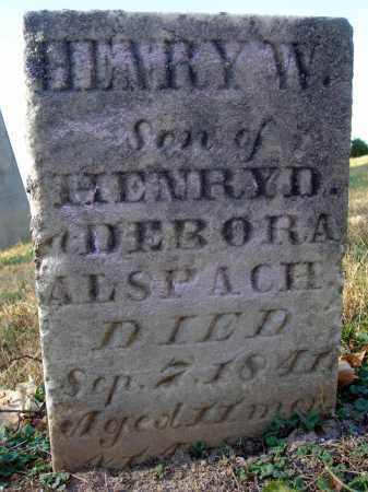 ALSPACH, HENRY W. - Fairfield County, Ohio | HENRY W. ALSPACH - Ohio Gravestone Photos