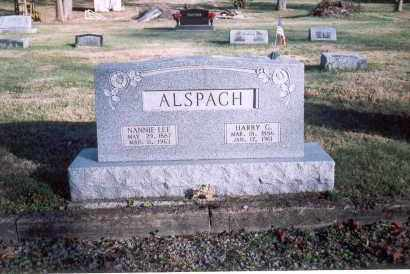 ALSPACH, HARRY G. - Fairfield County, Ohio | HARRY G. ALSPACH - Ohio Gravestone Photos