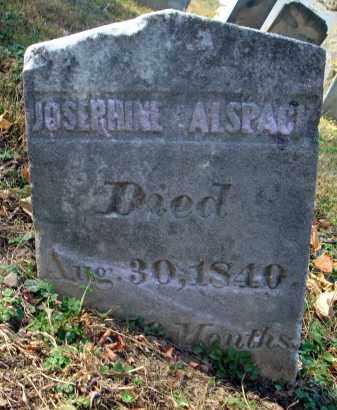 ALSPACH, JOSEPHINE - Fairfield County, Ohio | JOSEPHINE ALSPACH - Ohio Gravestone Photos