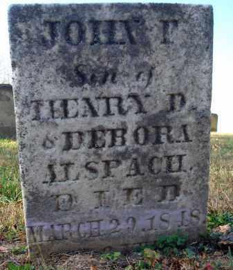 ALSPACH, JOHN T. - Fairfield County, Ohio   JOHN T. ALSPACH - Ohio Gravestone Photos