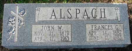 ALSPACH, JOHN W. - Fairfield County, Ohio | JOHN W. ALSPACH - Ohio Gravestone Photos