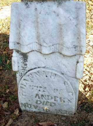 ANDERS, HANNAH S. C. - Fairfield County, Ohio | HANNAH S. C. ANDERS - Ohio Gravestone Photos