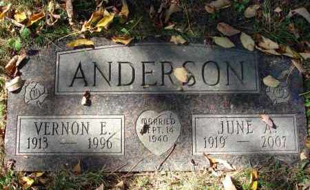 ANDERSON, VERNON E. - Fairfield County, Ohio | VERNON E. ANDERSON - Ohio Gravestone Photos