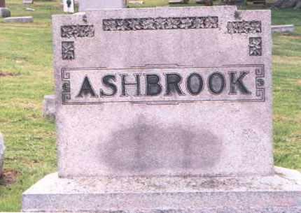 ASHBROOK, MONUMENT - Fairfield County, Ohio | MONUMENT ASHBROOK - Ohio Gravestone Photos