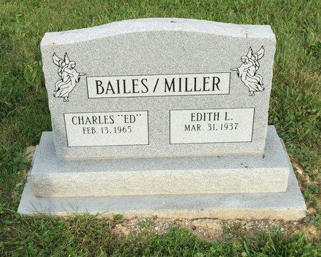 BAILES/MILLER, EDITH L. - Fairfield County, Ohio | EDITH L. BAILES/MILLER - Ohio Gravestone Photos