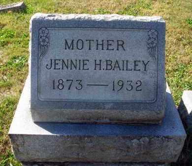 BAILEY, JENNIE H. - Fairfield County, Ohio | JENNIE H. BAILEY - Ohio Gravestone Photos