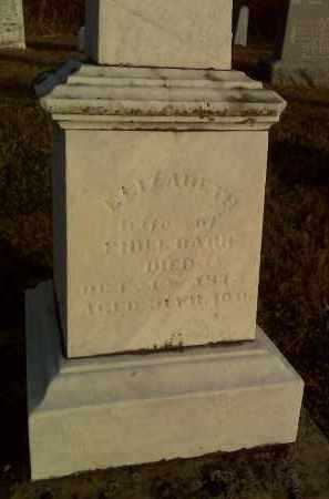BARR, ELIZABETH - Fairfield County, Ohio   ELIZABETH BARR - Ohio Gravestone Photos