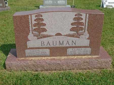 BAUMAN, CLYDE E. - Fairfield County, Ohio | CLYDE E. BAUMAN - Ohio Gravestone Photos