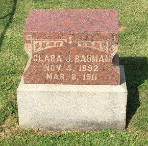 BAUMAN, CLARA J. - Fairfield County, Ohio | CLARA J. BAUMAN - Ohio Gravestone Photos