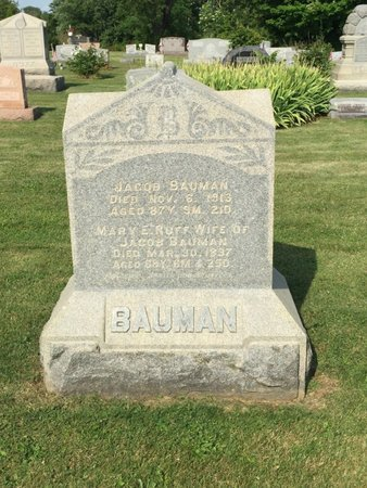 BAUMAN, JACOB - Fairfield County, Ohio | JACOB BAUMAN - Ohio Gravestone Photos