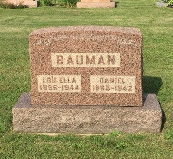 BAUMAN, LOU ELLA - Fairfield County, Ohio | LOU ELLA BAUMAN - Ohio Gravestone Photos