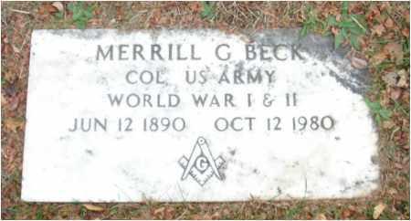 BECK, MERRILL G. - Fairfield County, Ohio | MERRILL G. BECK - Ohio Gravestone Photos