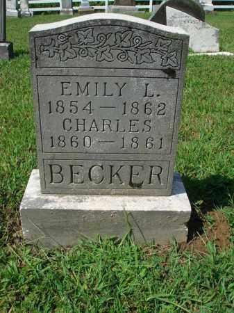 BECKER, EMILY L. - Fairfield County, Ohio   EMILY L. BECKER - Ohio Gravestone Photos