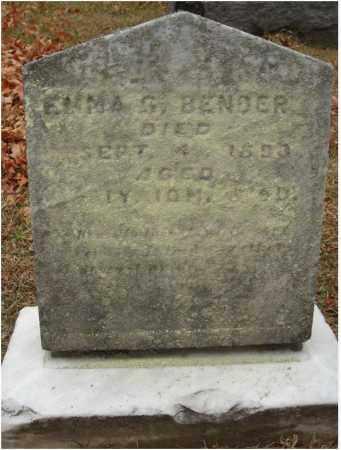 BENDER, EMMA G. - Fairfield County, Ohio   EMMA G. BENDER - Ohio Gravestone Photos