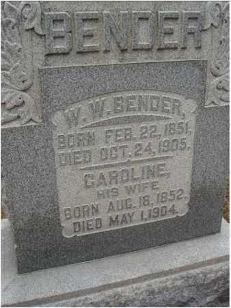 BENDER, W. W. - Fairfield County, Ohio   W. W. BENDER - Ohio Gravestone Photos