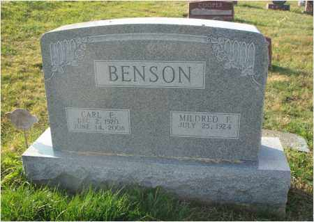 BENSON, CARL E. - Fairfield County, Ohio | CARL E. BENSON - Ohio Gravestone Photos