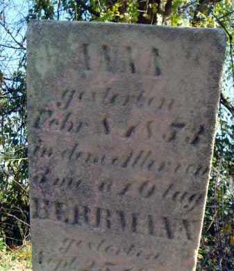 BERRMANN, ANNA - Fairfield County, Ohio | ANNA BERRMANN - Ohio Gravestone Photos