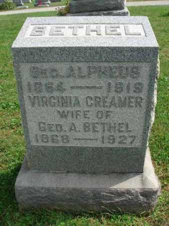BETHEL, GEORGE ALPHEUS - Fairfield County, Ohio | GEORGE ALPHEUS BETHEL - Ohio Gravestone Photos