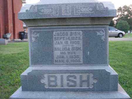 BISH, JACOB - Fairfield County, Ohio   JACOB BISH - Ohio Gravestone Photos