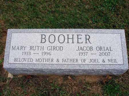 GIROD BOOHER, MARY RUTH - Fairfield County, Ohio | MARY RUTH GIROD BOOHER - Ohio Gravestone Photos