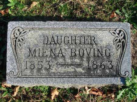 BOVING, MIENA - Fairfield County, Ohio | MIENA BOVING - Ohio Gravestone Photos