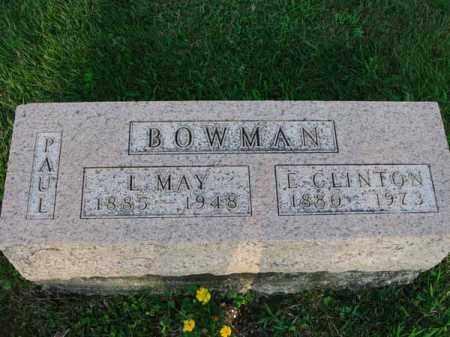 BOWMAN, E. CLINTON - Fairfield County, Ohio | E. CLINTON BOWMAN - Ohio Gravestone Photos