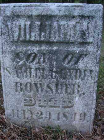 BOWSHER, WILLLIAM A. - Fairfield County, Ohio | WILLLIAM A. BOWSHER - Ohio Gravestone Photos