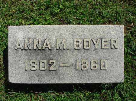 BOYER, ANNA M. - Fairfield County, Ohio | ANNA M. BOYER - Ohio Gravestone Photos