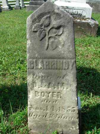 BOYER, CLARRINDY - Fairfield County, Ohio | CLARRINDY BOYER - Ohio Gravestone Photos