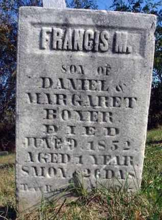 BOYER, FRANCIS M. - Fairfield County, Ohio | FRANCIS M. BOYER - Ohio Gravestone Photos