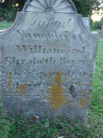 BOYER, INFANT DAUGHTER - Fairfield County, Ohio   INFANT DAUGHTER BOYER - Ohio Gravestone Photos