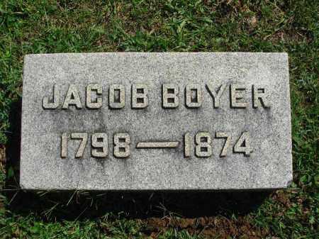 BOYER, JACOB - Fairfield County, Ohio   JACOB BOYER - Ohio Gravestone Photos
