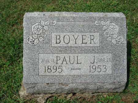 BOYER, PAUL J. - Fairfield County, Ohio   PAUL J. BOYER - Ohio Gravestone Photos