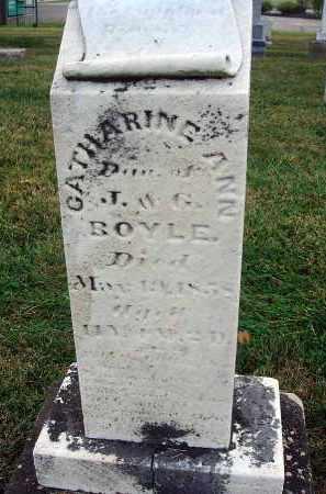 BOYLE, CATHARINE ANN - Fairfield County, Ohio | CATHARINE ANN BOYLE - Ohio Gravestone Photos