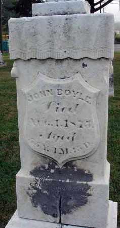 BOYLE, JOHN - Fairfield County, Ohio   JOHN BOYLE - Ohio Gravestone Photos