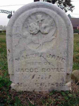BOYLE, MARTHA JANE - Fairfield County, Ohio | MARTHA JANE BOYLE - Ohio Gravestone Photos