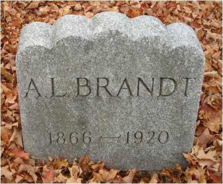 BRANDT, A. L. - Fairfield County, Ohio | A. L. BRANDT - Ohio Gravestone Photos