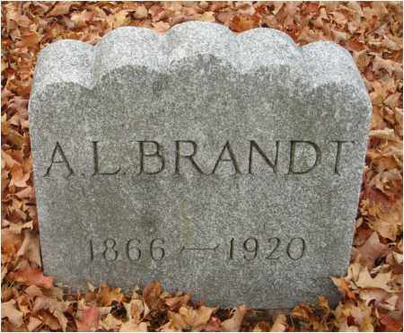 BRANDT, A. L. - Fairfield County, Ohio   A. L. BRANDT - Ohio Gravestone Photos